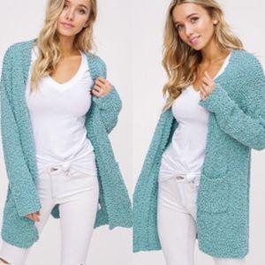 SKYLAR Softest Breathable Cardigan- SAGE